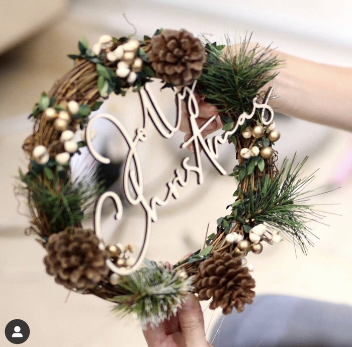 Workshop: Christmas Wreath making -60 mins