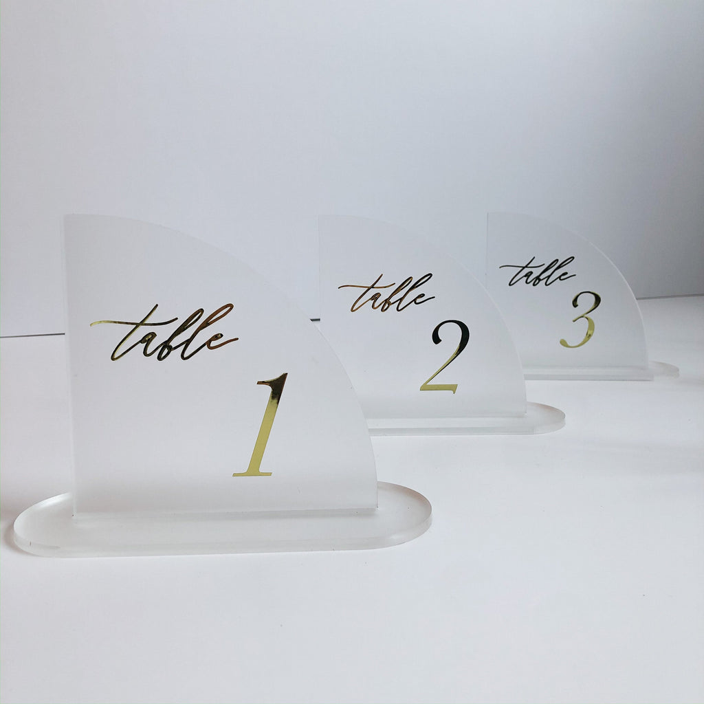 Quart Wedding Table Number Signage - Urban Li'l