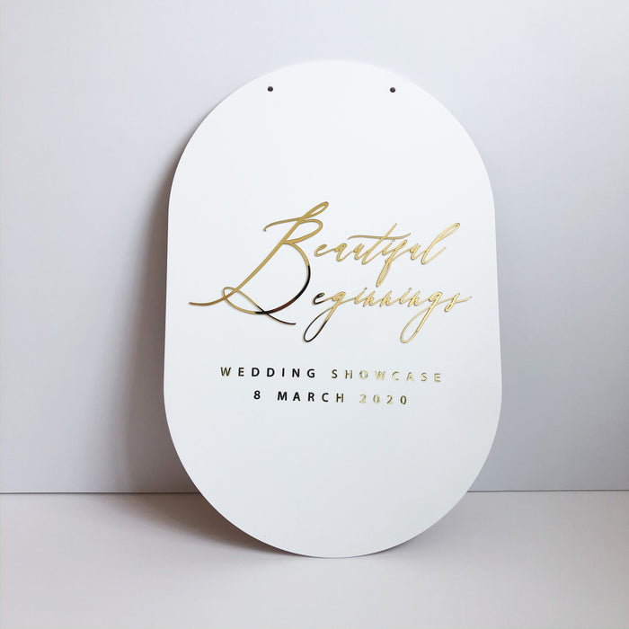Wedding Pop-up Signage -Curved Rectangle - Urban Li'l