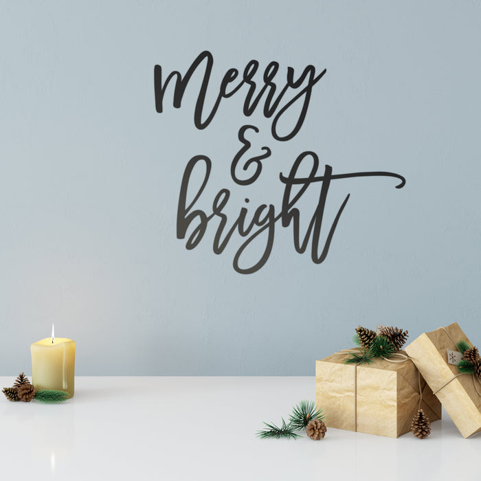 Merry & Bright Wall Decal