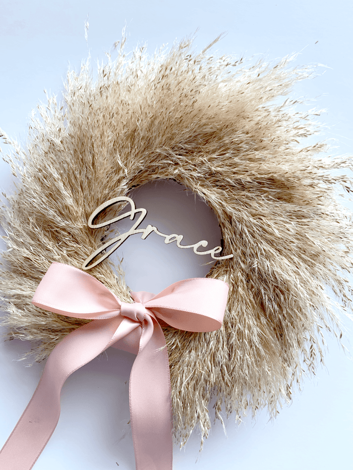 Mini Pampas Wreath