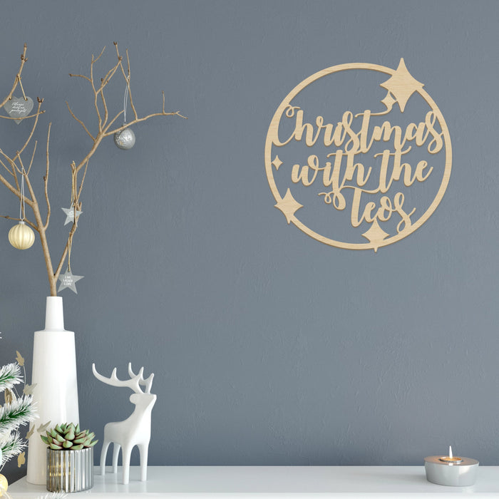 Christmas Plaque -Starry Border