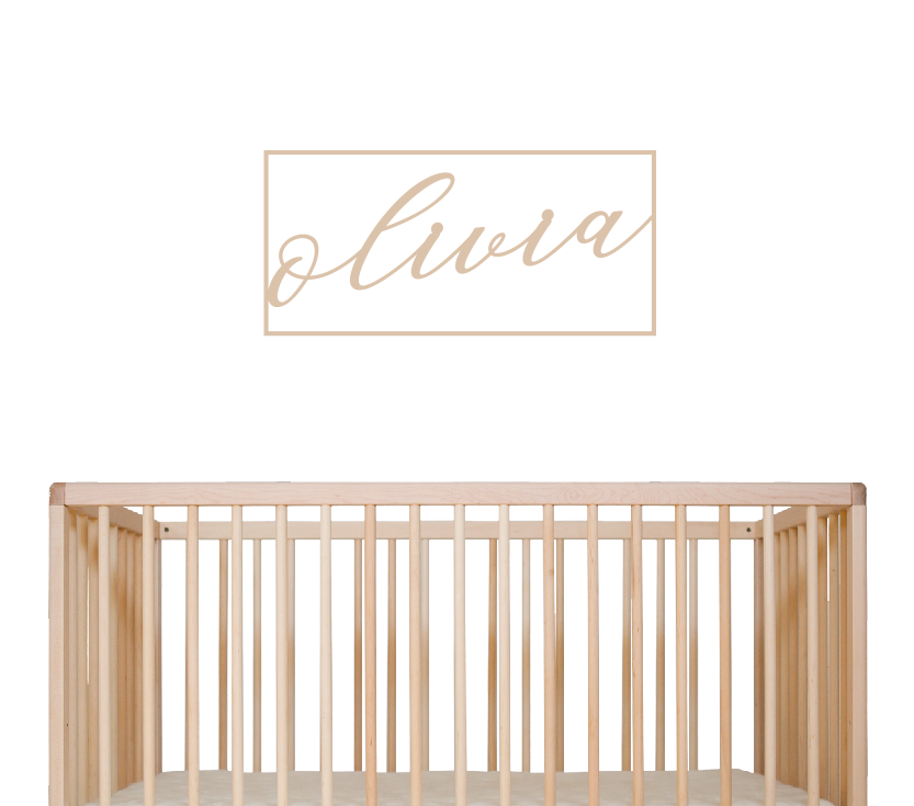 Rectangular Nursery Signage