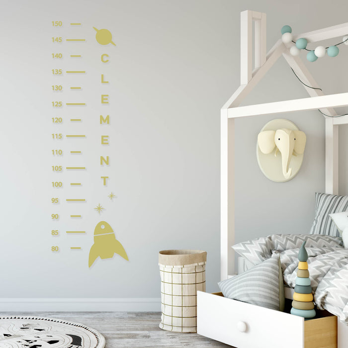 Space Theme Height Chart Wall Decal - Urban Li'l