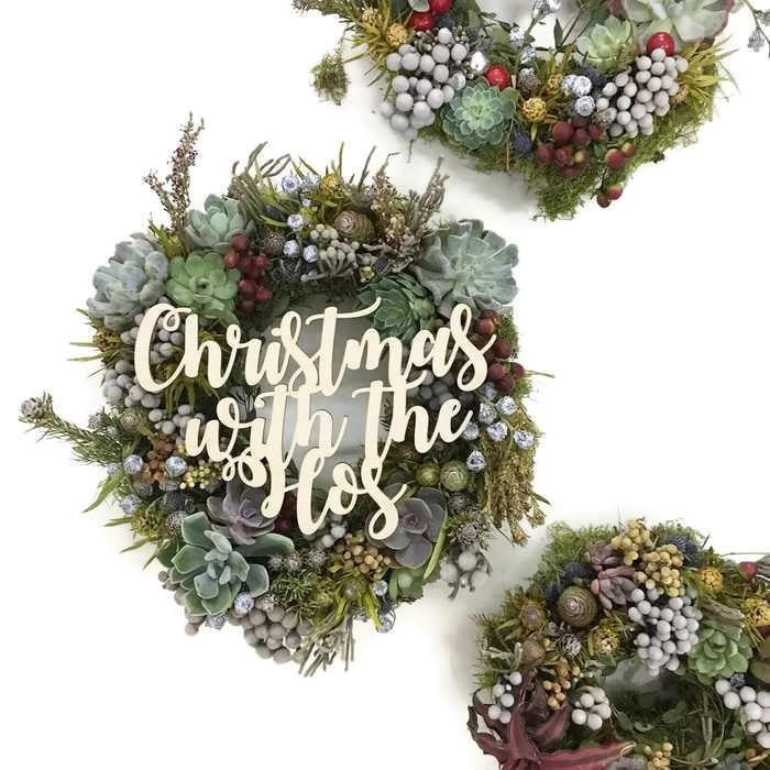 Succulents Wreath by Rabbit Island