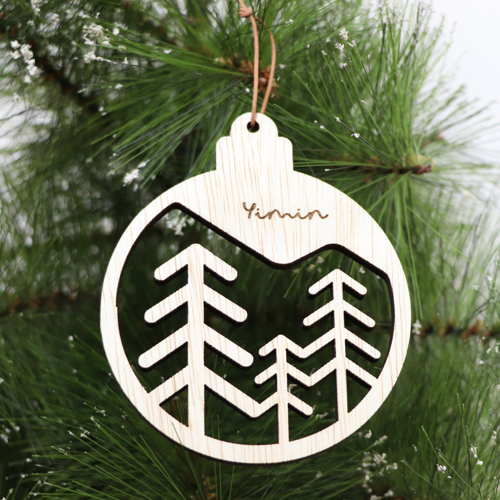 Christmas Ornament -Three Trees