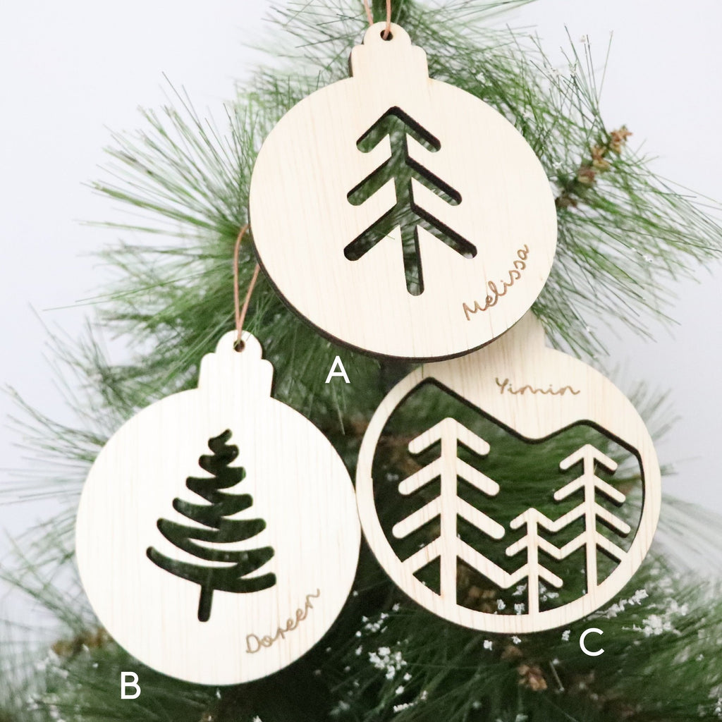 Christmas Ornament -Three Trees - Urban Li'l