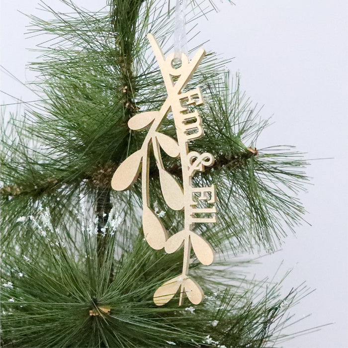 Christmas Ornament -Under The Mistletoe - Urban Li'l