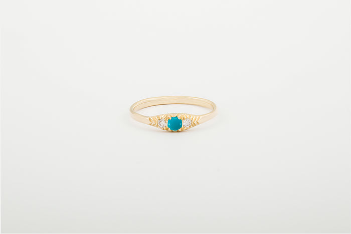 Turquoise 3 Stone Ovate III Ring