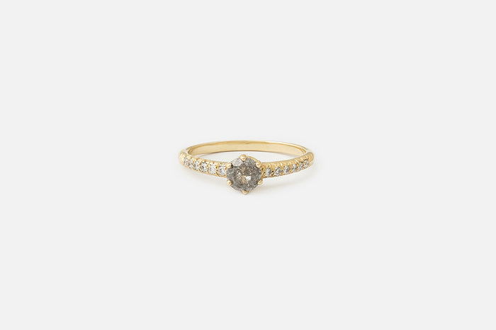 Soro Ring // Salt and Pepper Diamond