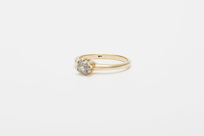 Smooth Una Ring // Salt and Pepper Diamond