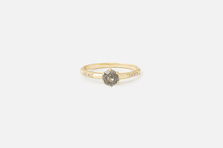 Enda Ring // Salt and Pepper Diamond