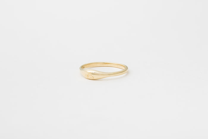 Ovate III Engraved Signet Ring