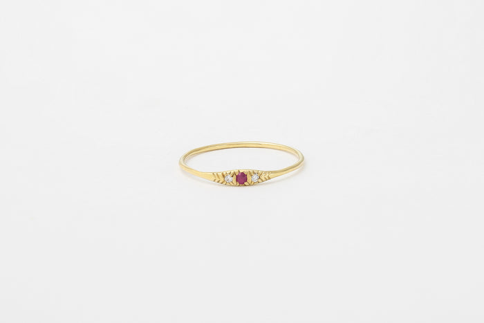 Ruby Ovate I Ring