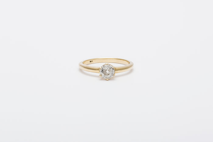 Smooth Una Ring // White Diamond