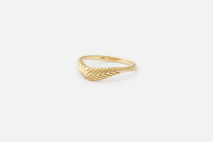 Etched Curve II RIng