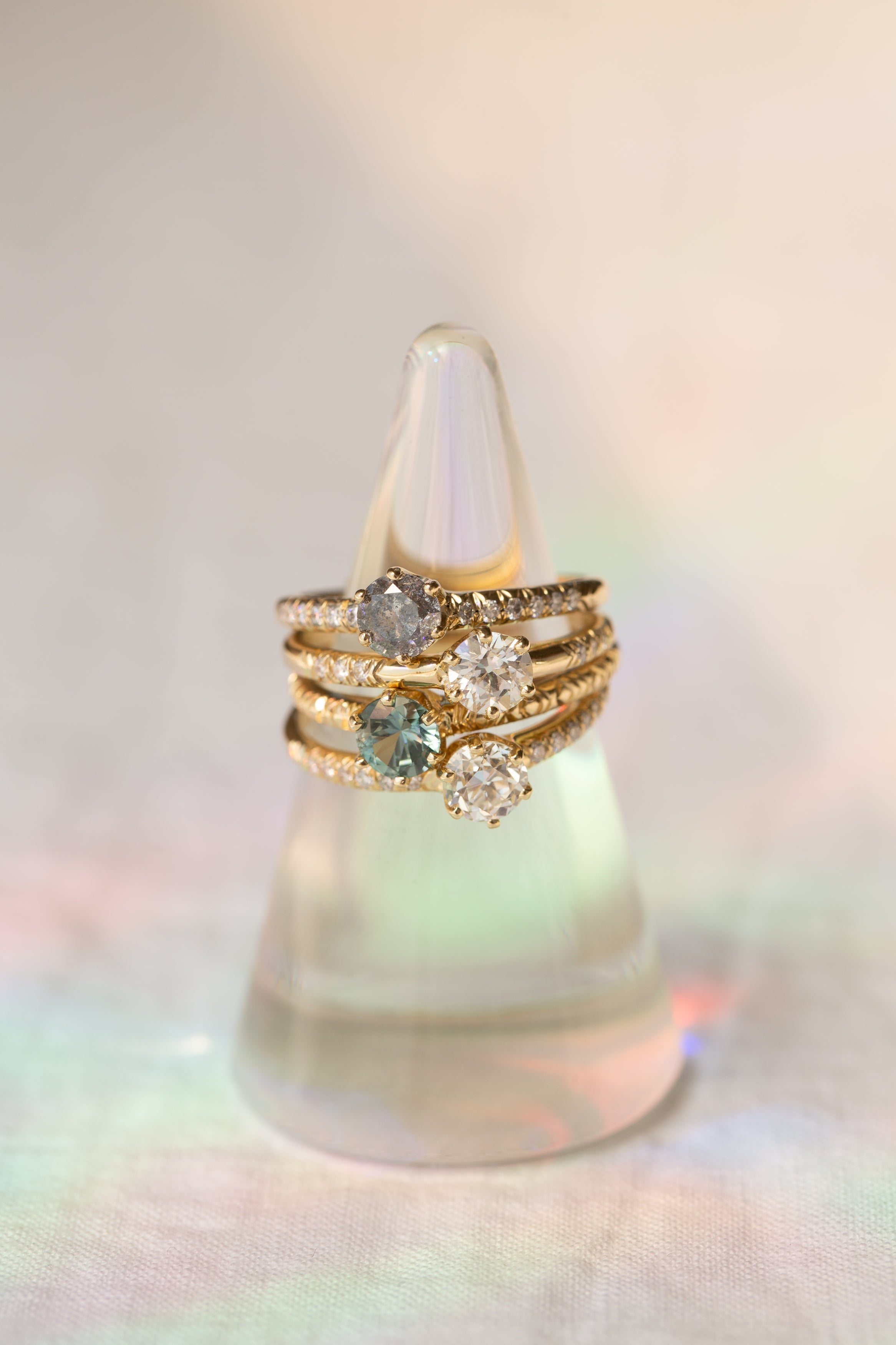 Enda Ring // White Diamond