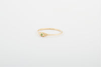Peridot Seedling Stacker Ring