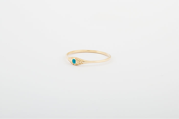 Turquoise Seedling Stacker Ring