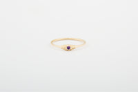 Amethyst Seedling Stacker Ring
