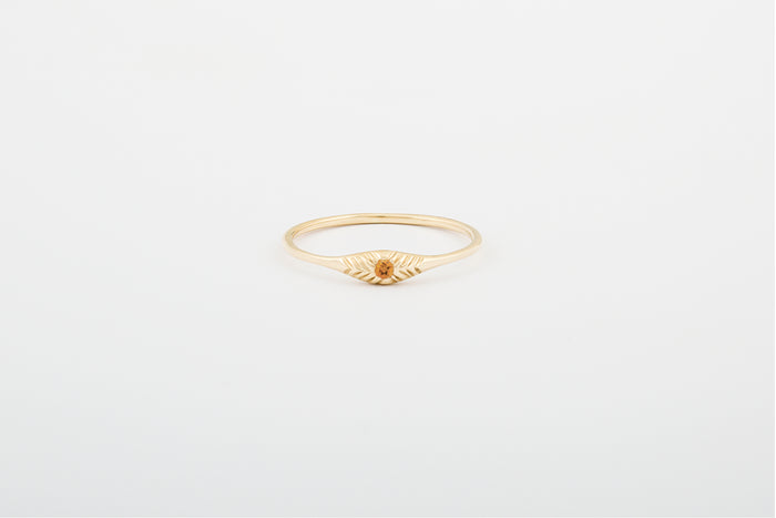 Citrine Seedling Stacker Ring