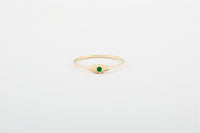 Emerald Seedling Stacker Ring