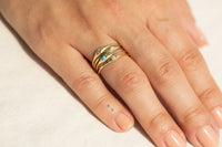 Aquamarine Seedling Stacker Ring