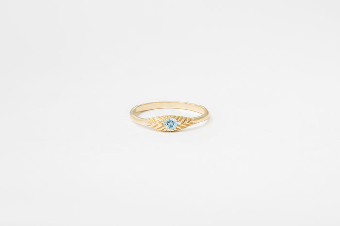 Aquamarine Ovate III Ring