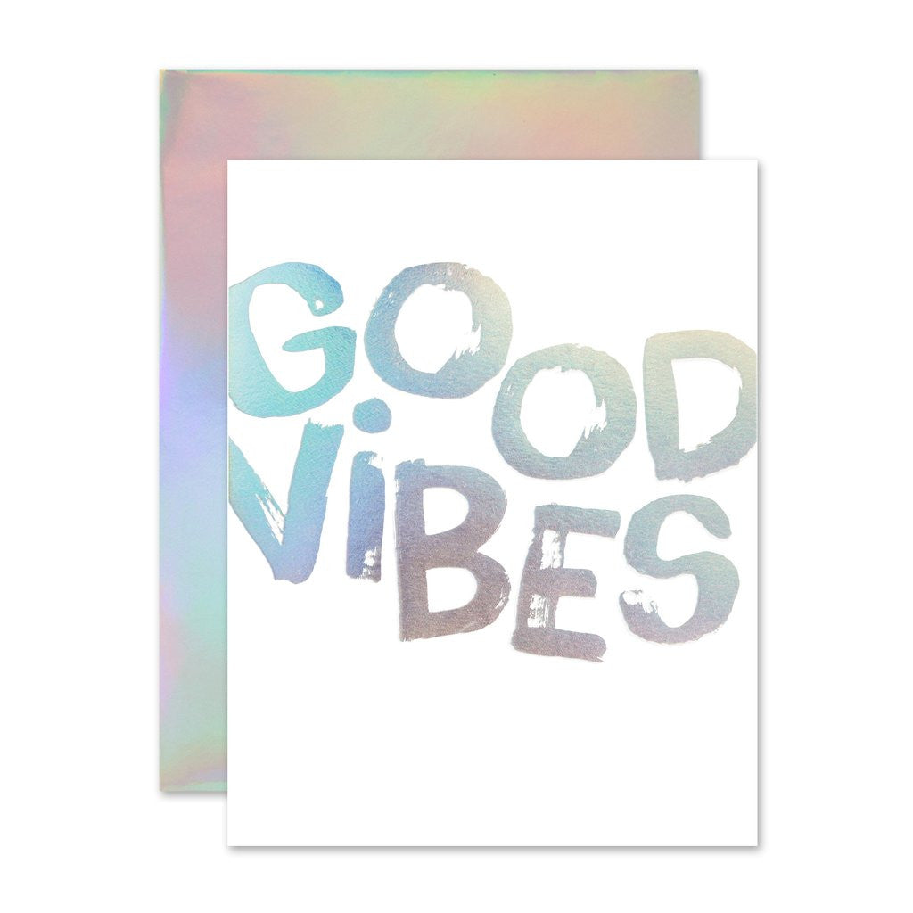 Good Vibes Holla-Gram Card