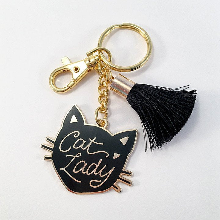 Cat Lady Keychain