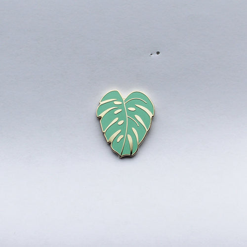 Montsera Leaf Lapel Pin