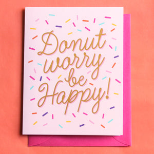 Donut Worry Be Happy Card