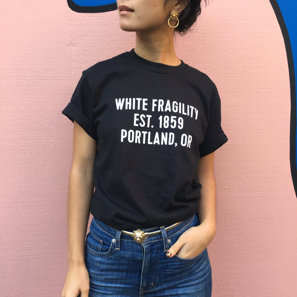White Fragility Shirt in Black