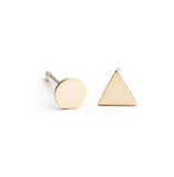Mini Circle Triangle Earrings