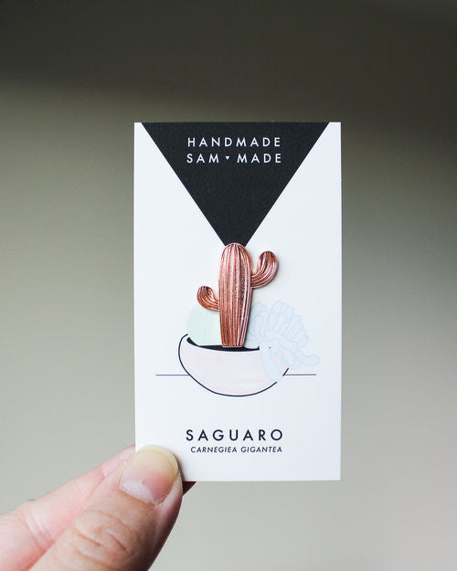 Rose Gold Saguaro Cactus Pin