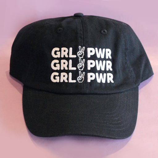 Girl Power Baseball Hat – Black