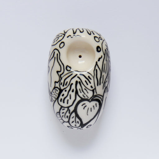 Hand-Painted Doodle Ceramic Pipe