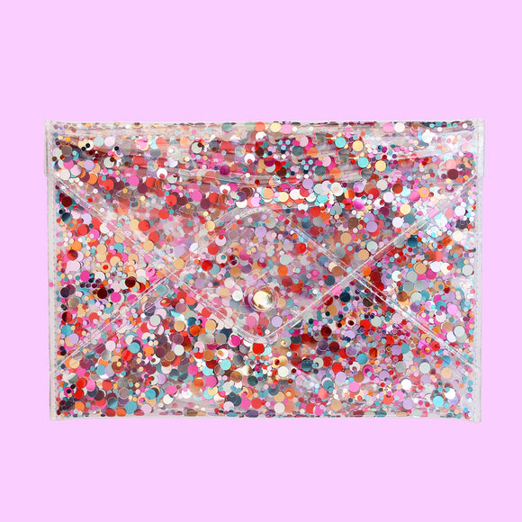 Confetti Envelope Clutch