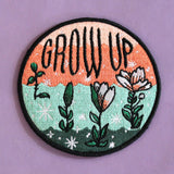 Grow Up Iron-On Patch
