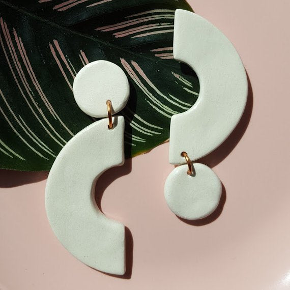 Handmade Ceramic Earrings