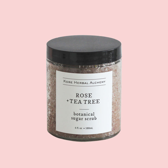 Rose + Tea Tree Sugar Scrub 6oz
