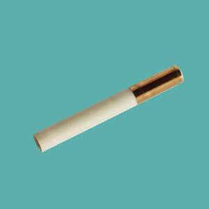 Large Gold-Tipped Ceramic One Hitter