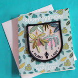 Plant Lady Birthday Card + Patch