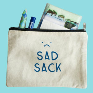 Sad Sack Zipper Pouch