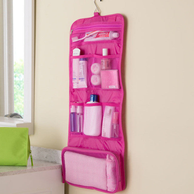 e6f2c477e77b Travel Foldable Toiletry Bag with Hanging Hook For Organize Cosmetic