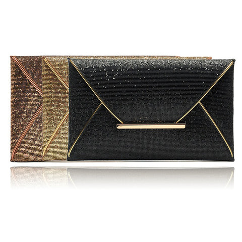 Shiny Envelope Style Clutch Bag. Great for that special evening out.