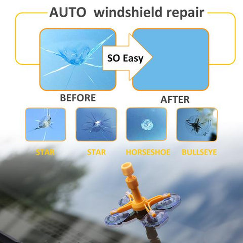 DIY Car Windshield Repair Tool - Repair Chips or Cracks Quickly