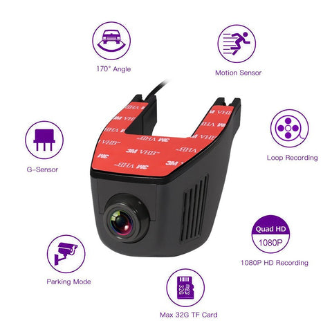 Dash Cam Pro - 1080P Full HD 170 Degree Wide Angle WiFi Dash Camera