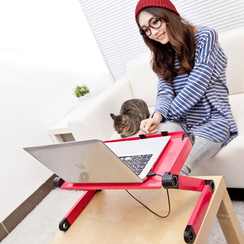 Folding Desk Pro - A Height Adjustable Tilt-top Folding Table