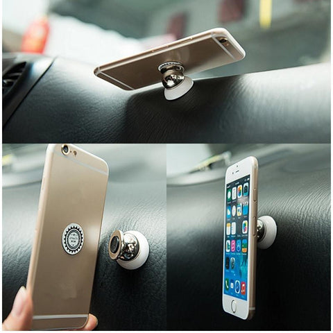 Magnetic Phone Holder - 360 Degree Adjustable Car Phone Holder